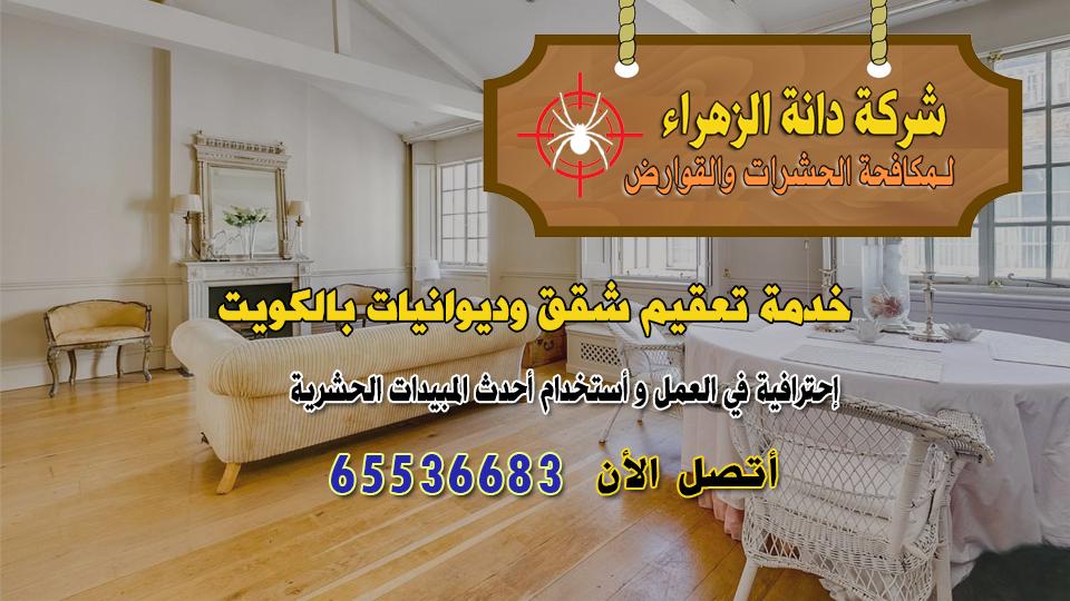 خدمة تعقيم شقق وديوانيات بالكويت